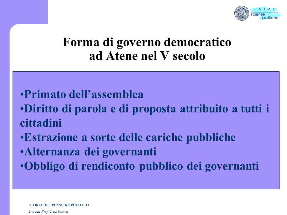 i STORIA DEL PENSIERO POLITICO Docente Prof. Scuccimarra Lezione n. 9 I SEMESTRE A.A. 2005-2006