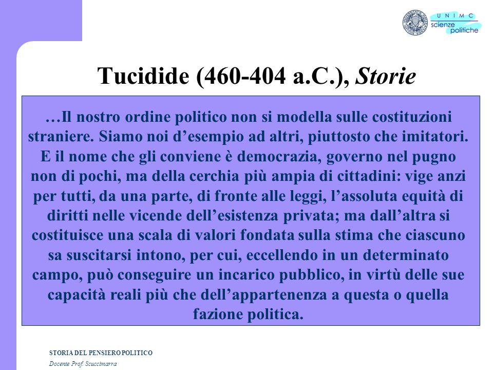 i STORIA DEL PENSIERO POLITICO Docente Prof. Scuccimarra Lezione n. 12 I SEMESTRE A.A. 2005-2006
