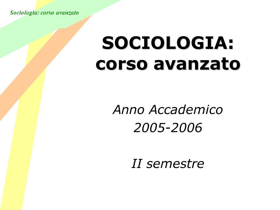 Sociologia: corso avanzato Lezione 7 La considerazione (o riconsiderazione) successiva della questione dellordine sociale da parte di Durkheim