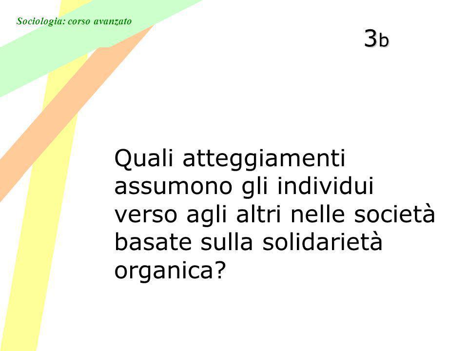 Sociologia: corso avanzato 3b3b3b3b Quali atteggiamenti assumono gli individui verso agli altri nelle società basate sulla solidarietà organica?