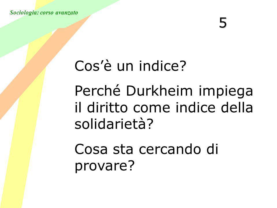 Sociologia: corso avanzato5 Cosè un indice.