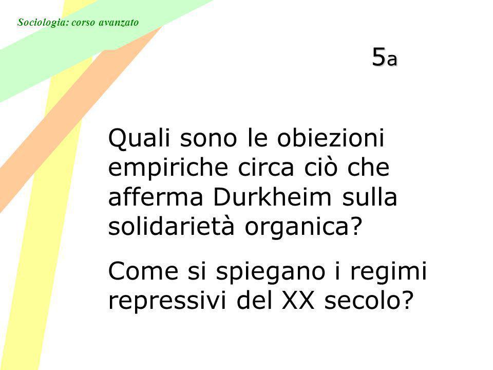 Sociologia: corso avanzato 5a5a5a5a Quali sono le obiezioni empiriche circa ciò che afferma Durkheim sulla solidarietà organica.