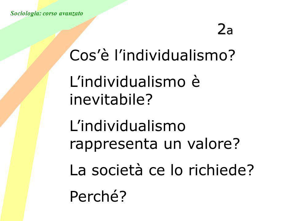Sociologia: corso avanzato 2a2a2a2a Cosè lindividualismo.