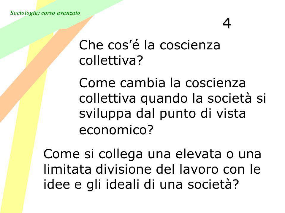 Sociologia: corso avanzato4 Che cosé la coscienza collettiva.