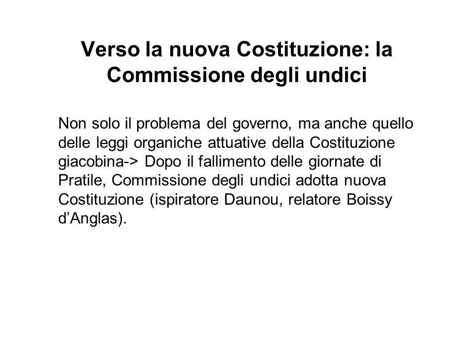 Verso la nuova Costituzione: la Commissione degli undici Non solo il problema del governo, ma anche quello delle leggi organiche attuative della Costi