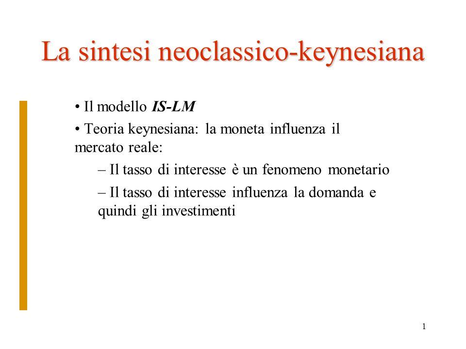 2 Il modello di Hicks 1937: Mr Keynes and the Classics: a suggested simplification sir John Hicks (1904-1989, premio nobel per leconomia nel 1972) il modello IS-LM.