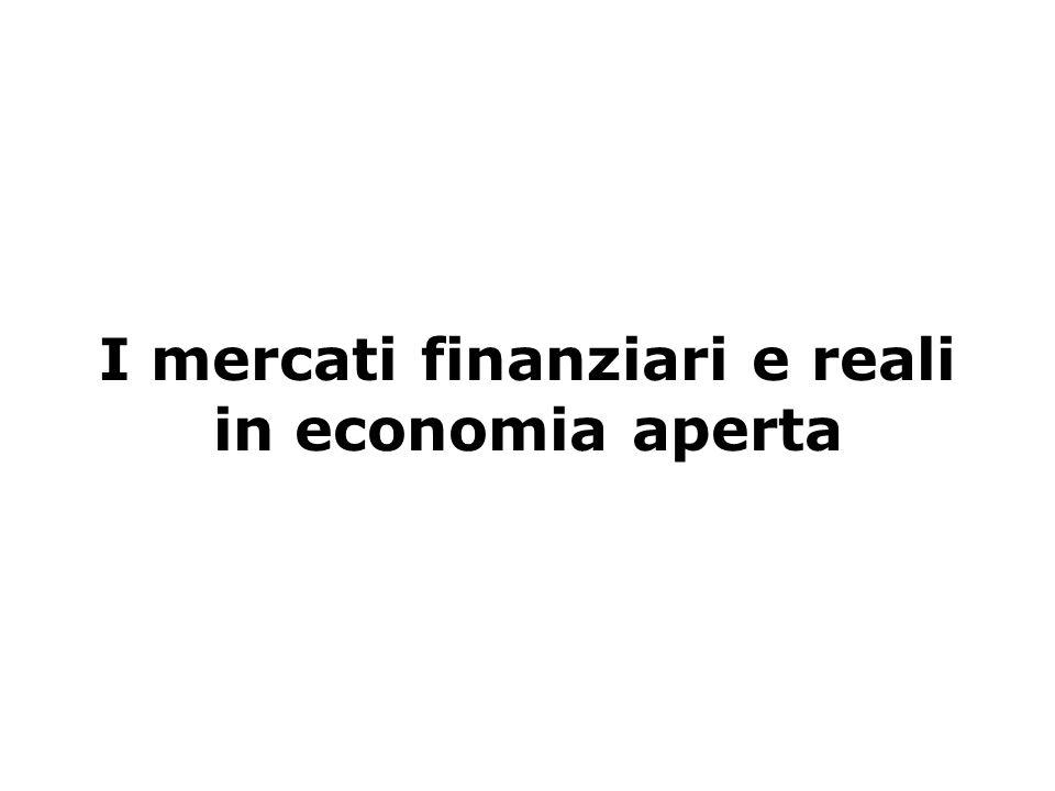 Blanchard, Scoprire la macroeconomia, vol. I, Il Mulino 2005 Capitolo 14. I mercati dei beni e i mercati finanziari in economia aperta I mercati finan