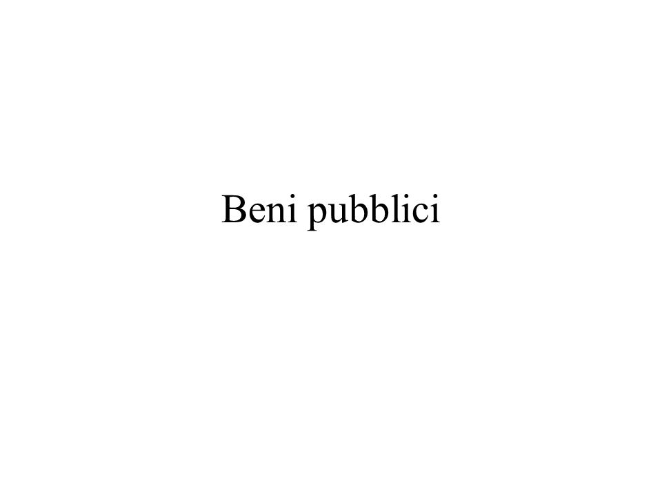 Beni pubblici