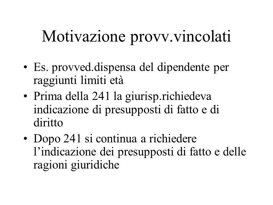 Motivazione provv.vincolati Es.