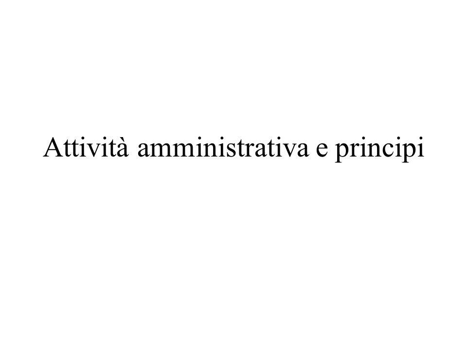 Attività amministrativa e principi