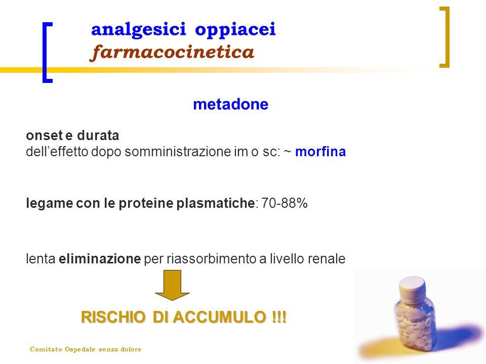 Comitato Ospedale senza dolore analgesici oppiacei farmacocinetica onset e durata delleffetto dopo somministrazione im o sc: ~ morfina RISCHIO DI ACCU