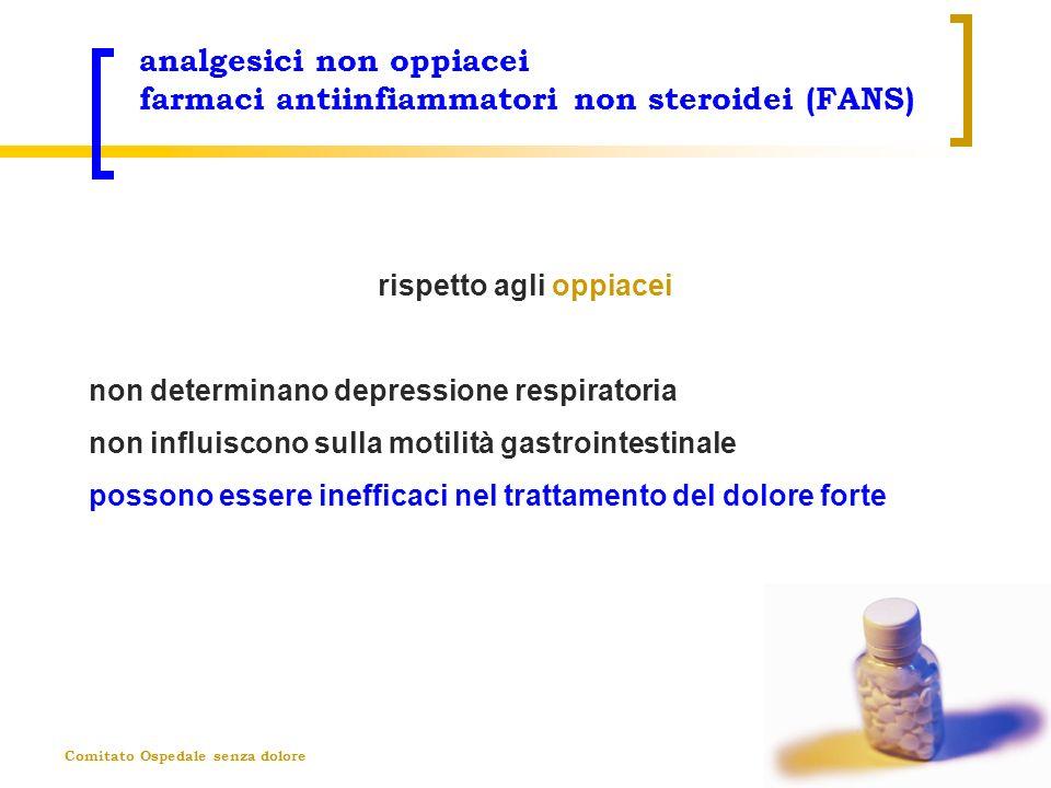 Comitato Ospedale senza dolore analgesici non oppiacei farmaci antiinfiammatori non steroidei (FANS) rispetto agli oppiacei non determinano depression