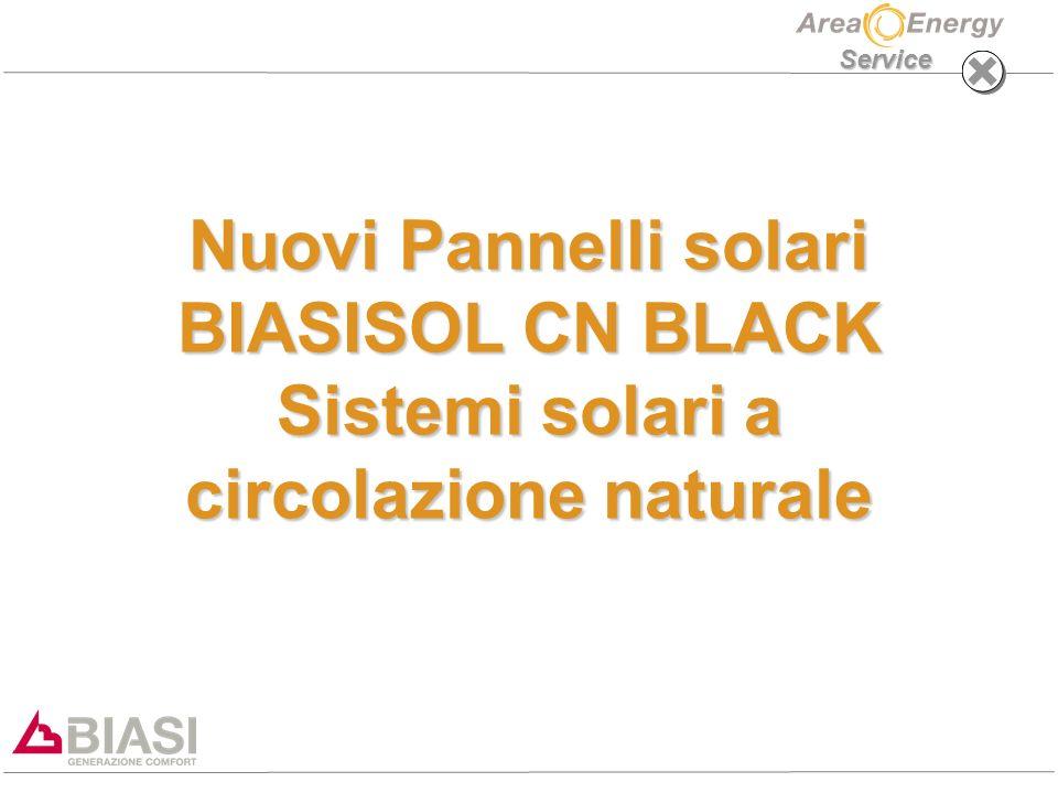 Service Nuovi Pannelli solari BIASISOL CN BLACK Sistemi solari a circolazione naturale