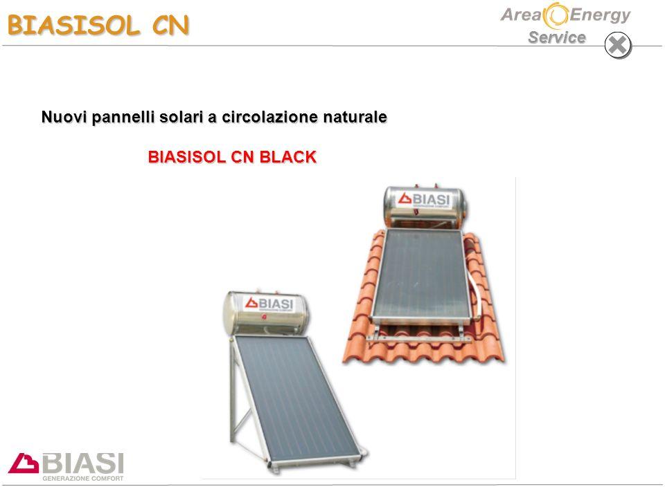 Service Nuovi pannelli solari a circolazione naturale BIASISOL CN BLACK BIASISOL CN