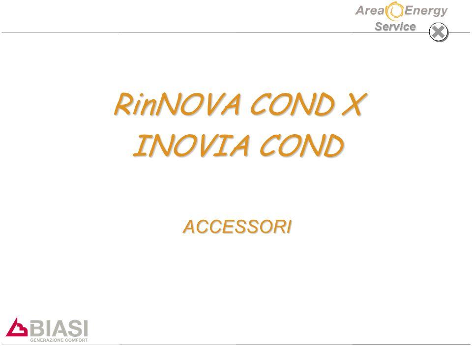 RinNOVA COND X - Inovia Cond: ACCESSORI Service CONNESSIONI IDRAULICHE