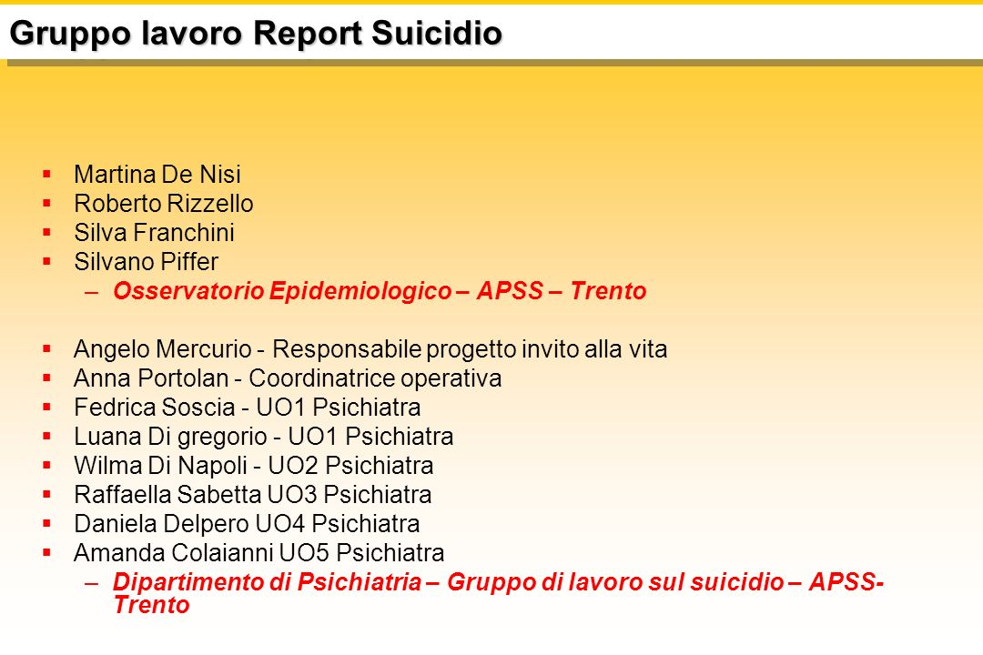 Anno Suici di Autolesionis mi 200348n.d.200450n.d.
