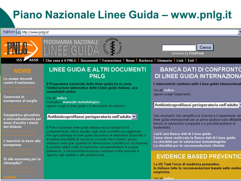 Piano Nazionale Linee Guida – www.pnlg.it