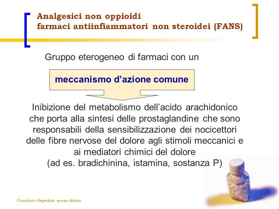 Comitato Ospedale senza dolore Analgesici non oppioidi farmaci antiinfiammatori non steroidei (FANS) Inibizione del metabolismo dellacido arachidonico