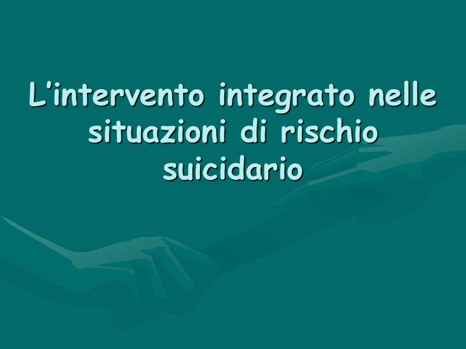 Lintervento integrato nelle situazioni di rischio suicidario
