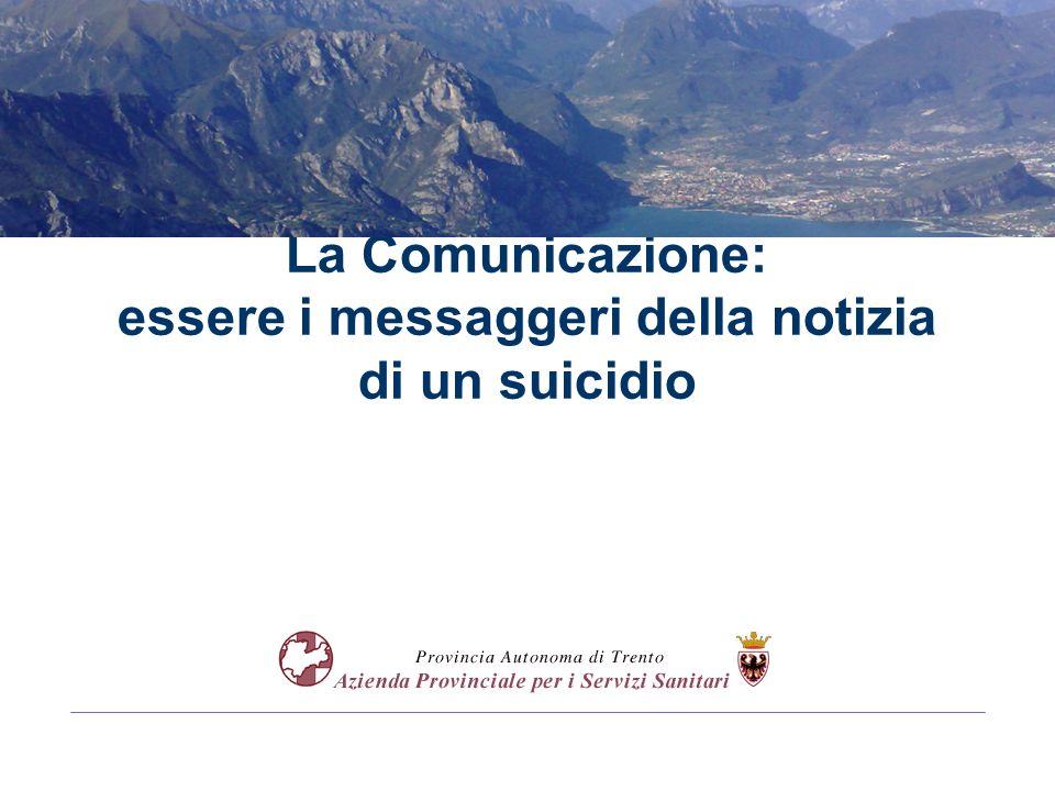 La Comunicazione: essere i messaggeri della notizia di un suicidio