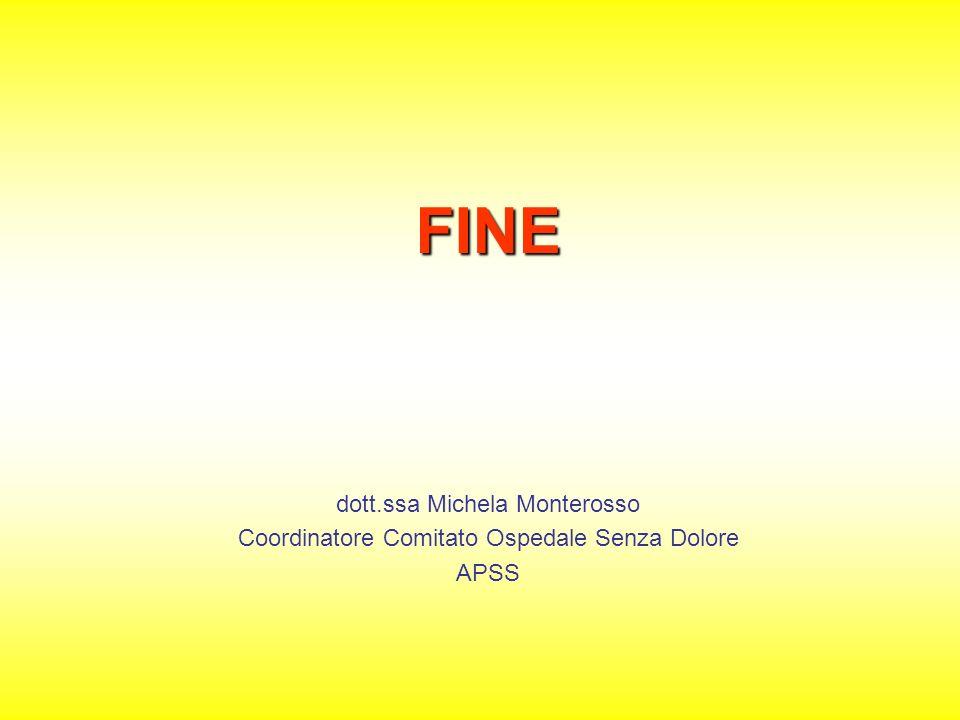 FINE dott.ssa Michela Monterosso Coordinatore Comitato Ospedale Senza Dolore APSS