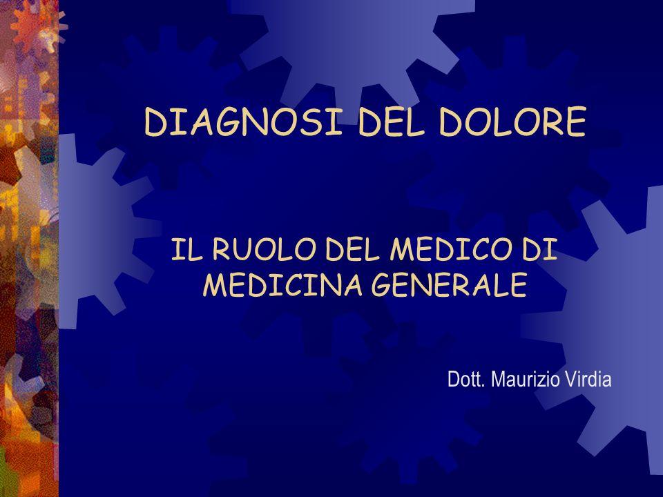 DIAGNOSI DEL DOLORE IL RUOLO DEL MEDICO DI MEDICINA GENERALE Dott. Maurizio Virdia