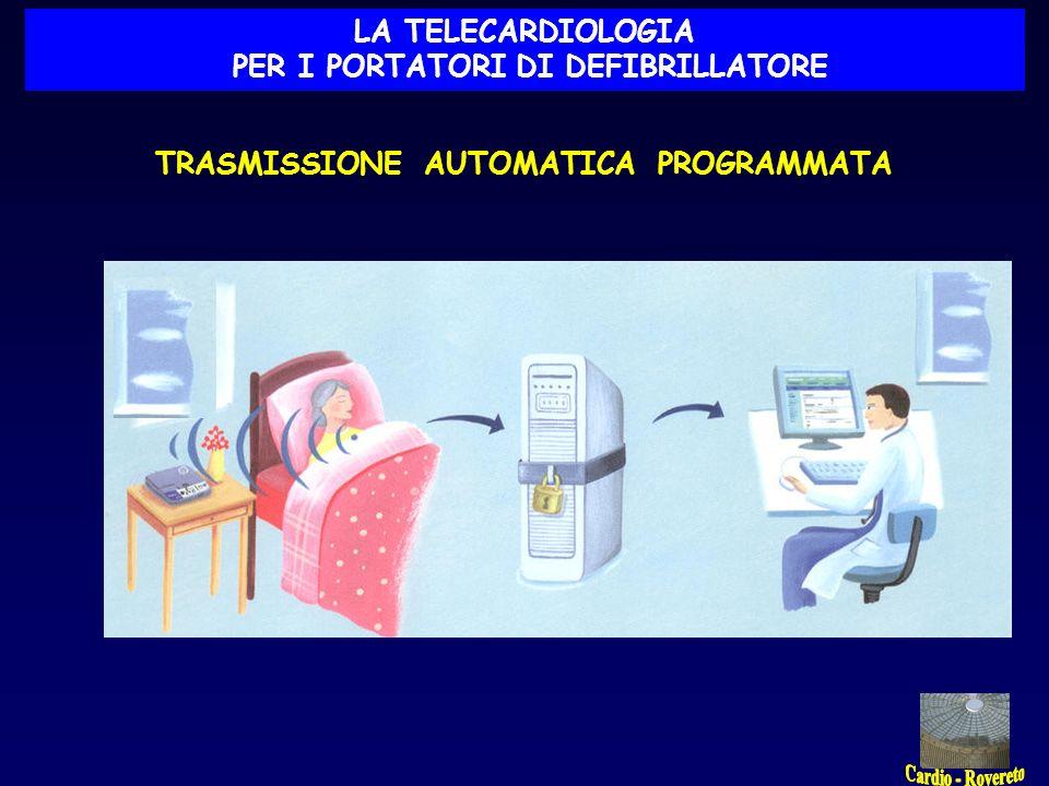 TRASMISSIONE AUTOMATICA PROGRAMMATA LA TELECARDIOLOGIA PER I PORTATORI DI DEFIBRILLATORE