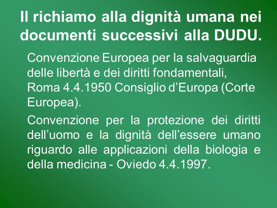 Convenzione Europea per la salvaguardia delle libertà e dei diritti fondamentali, Roma 4.4.1950 Consiglio dEuropa (Corte Europea). Convenzione per la