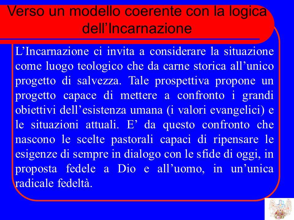 Verso un modello coerente con la logica dellIncarnazione LIncarnazione ci invita a considerare la situazione come luogo teologico che da carne storica allunico progetto di salvezza.