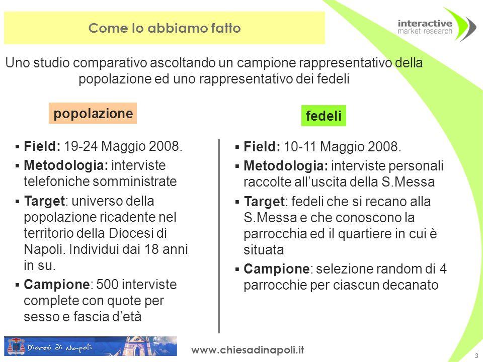 www.chiesadinapoli.it 3 Field: 10-11 Maggio 2008.