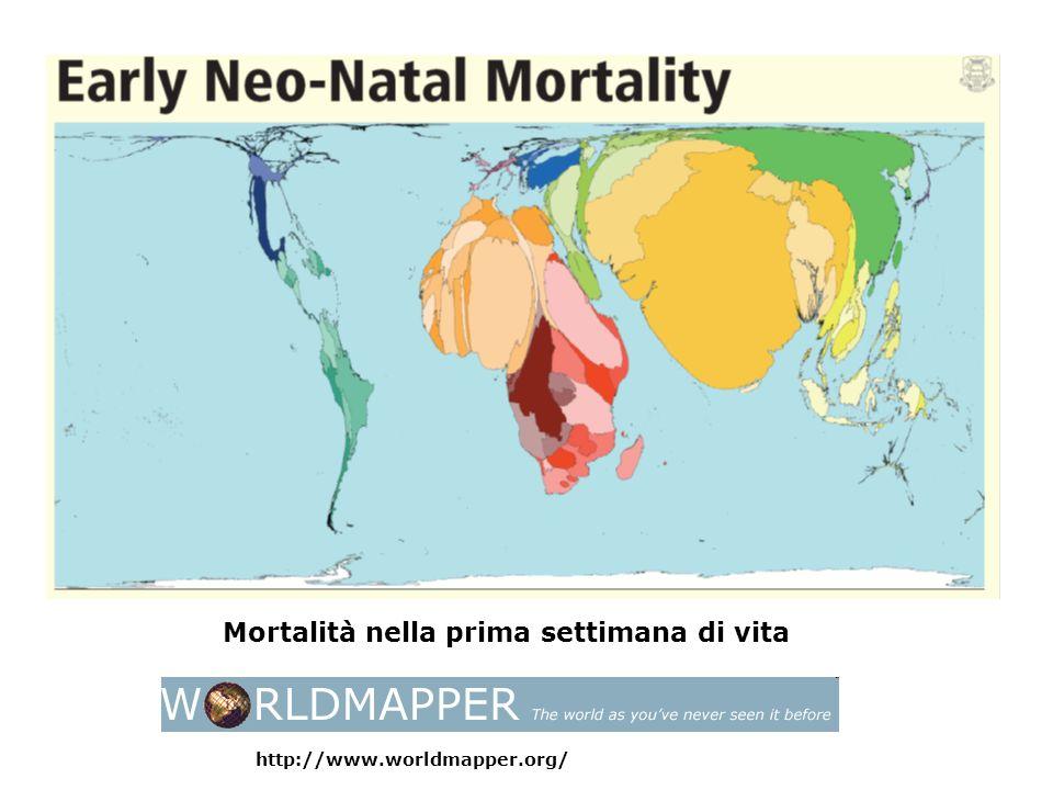 Mortalità materna dovuta alla gravidanza http://www.worldmapper.org/