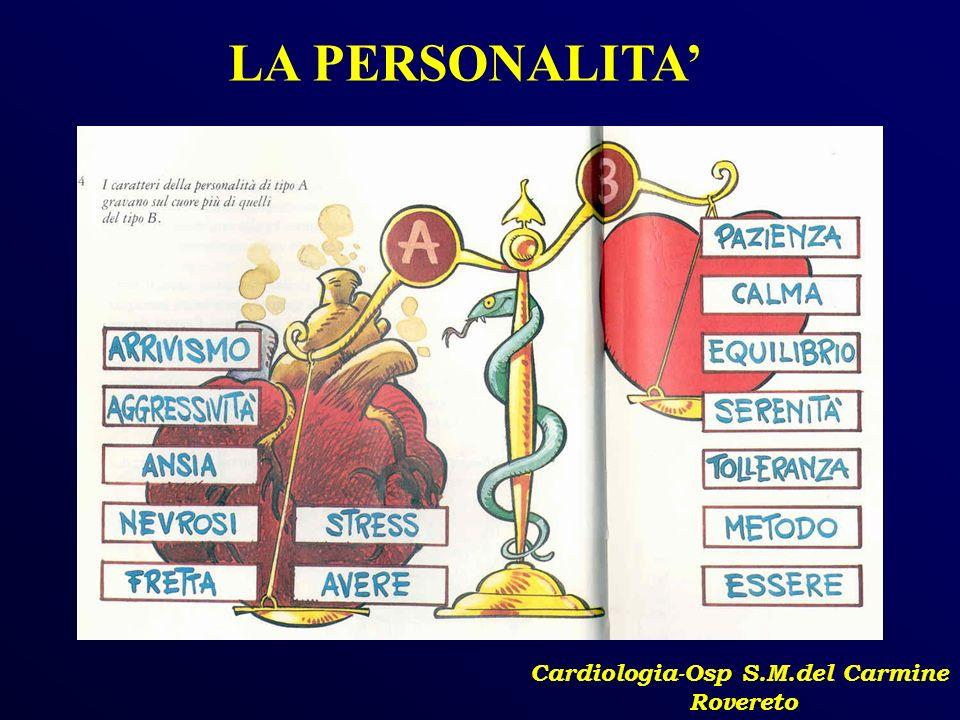 Cardiologia-Osp S.M.del Carmine Rovereto LA PERSONALITA