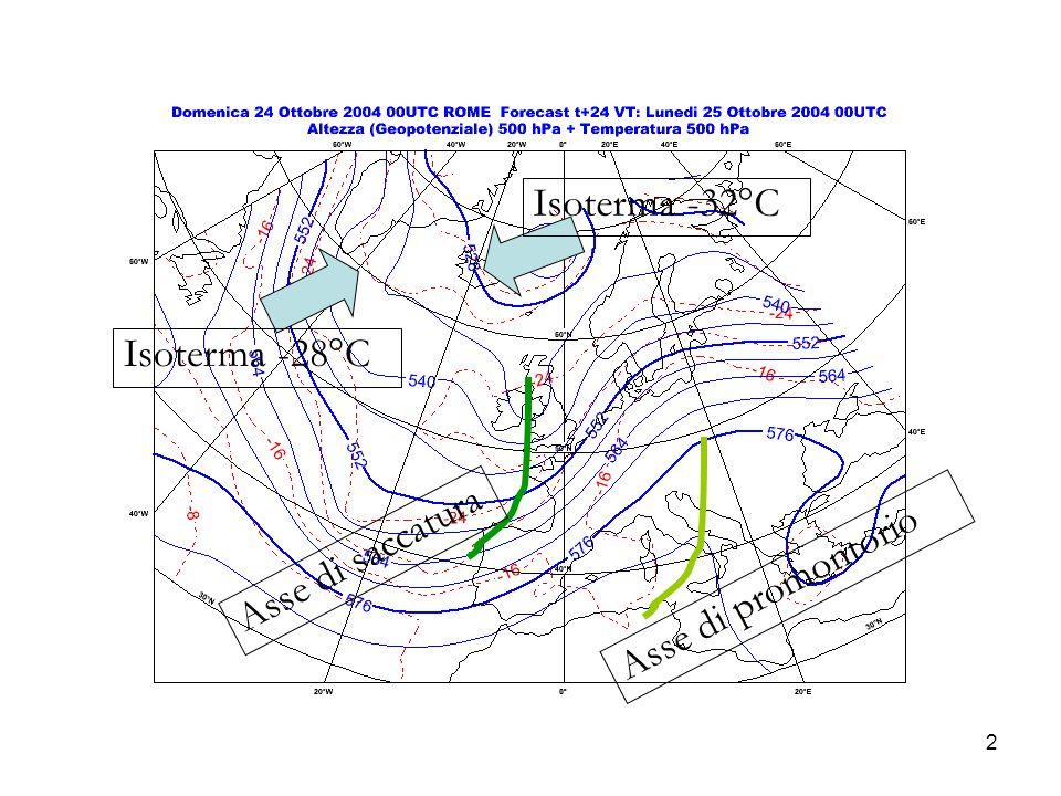 2 Isoterma -28°C Isoterma -32°C Asse di promontorio Asse di saccatura