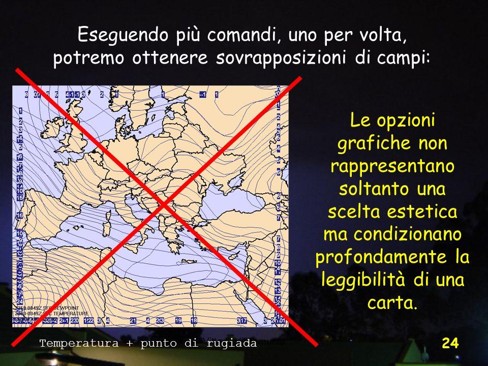 Vittorio Villasmunta 24 Eseguendo più comandi, uno per volta, potremo ottenere sovrapposizioni di campi: Le opzioni grafiche non rappresentano soltant