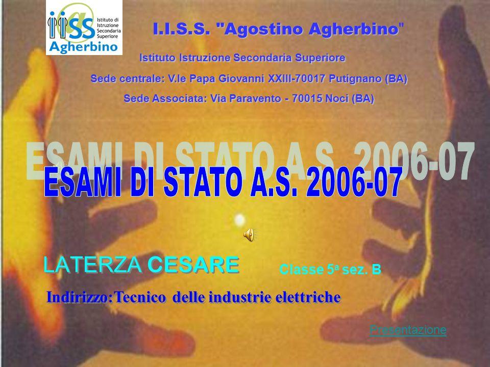 LATERZA CESARE Classe 5 a sez. B I.I.S.S.