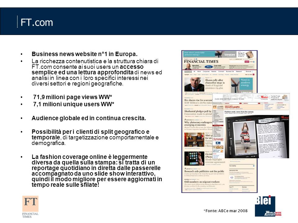 FT.com Business news website n°1 in Europa.