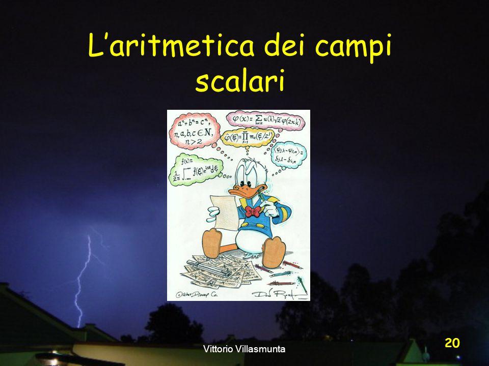 Vittorio Villasmunta 20 Laritmetica dei campi scalari