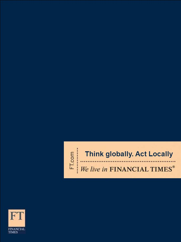 Think globally. Act Locally