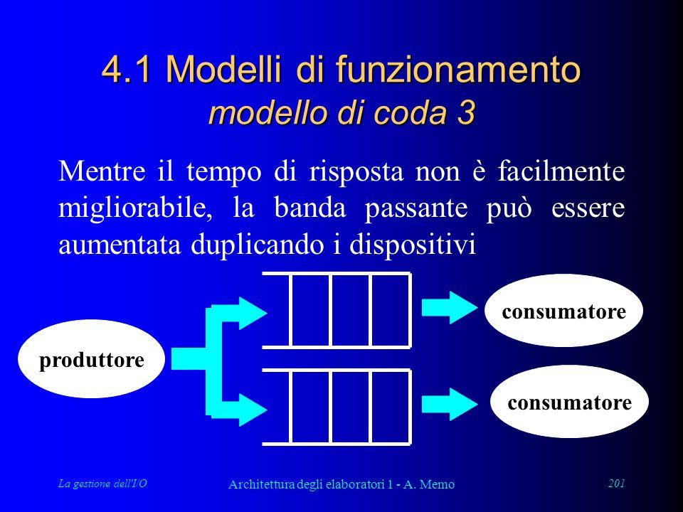 La gestione dell I/O Architettura degli elaboratori 1 - A.