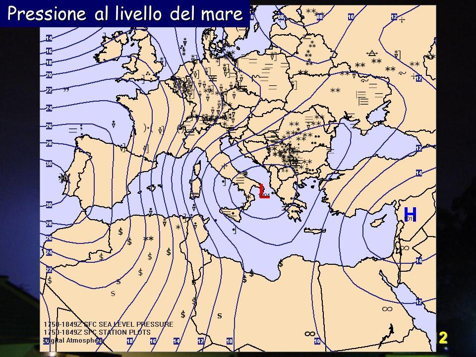 Corso Digital Atmosphere - I livello 12 Pressione al livello del mare