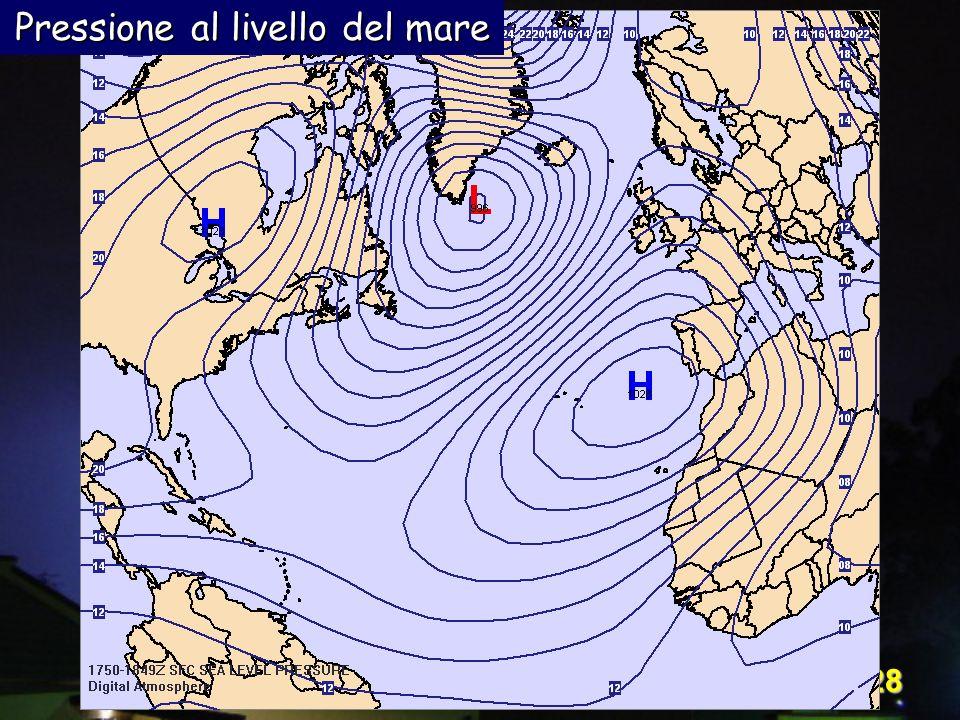 Corso Digital Atmosphere - I livello 28 Pressione al livello del mare