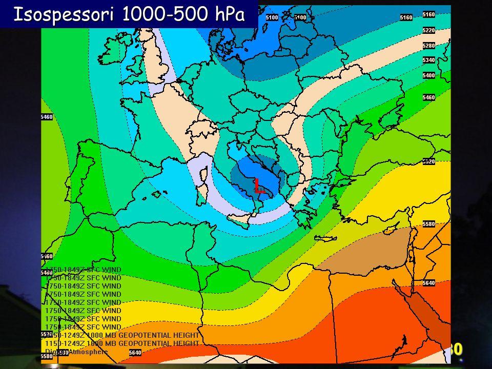 Corso Digital Atmosphere - I livello 30 Isospessori 1000-500 hPa