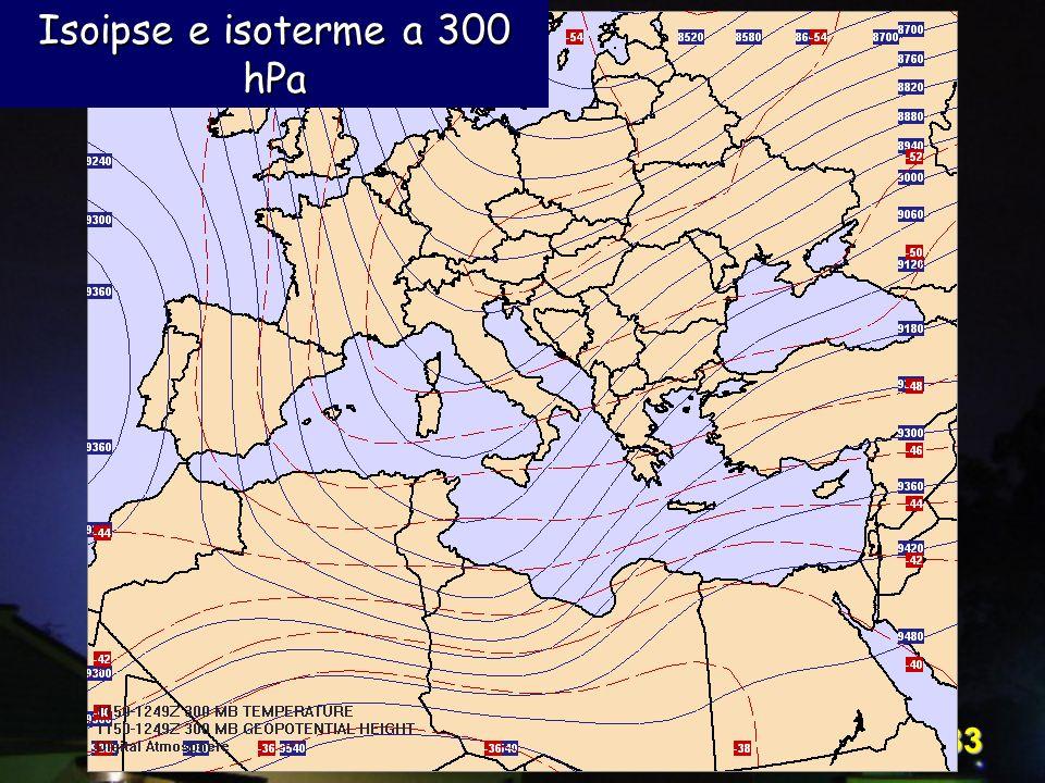 Corso Digital Atmosphere - I livello 33 Isoipse e isoterme a 300 hPa