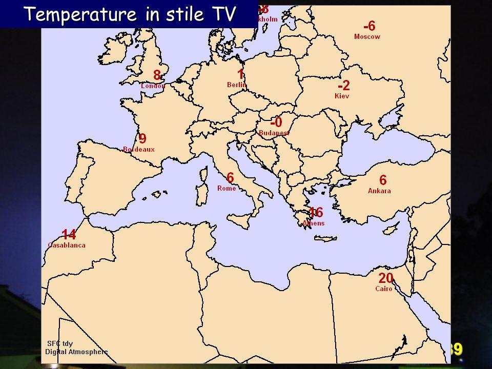 Corso Digital Atmosphere - I livello 39 Temperature in stile TV