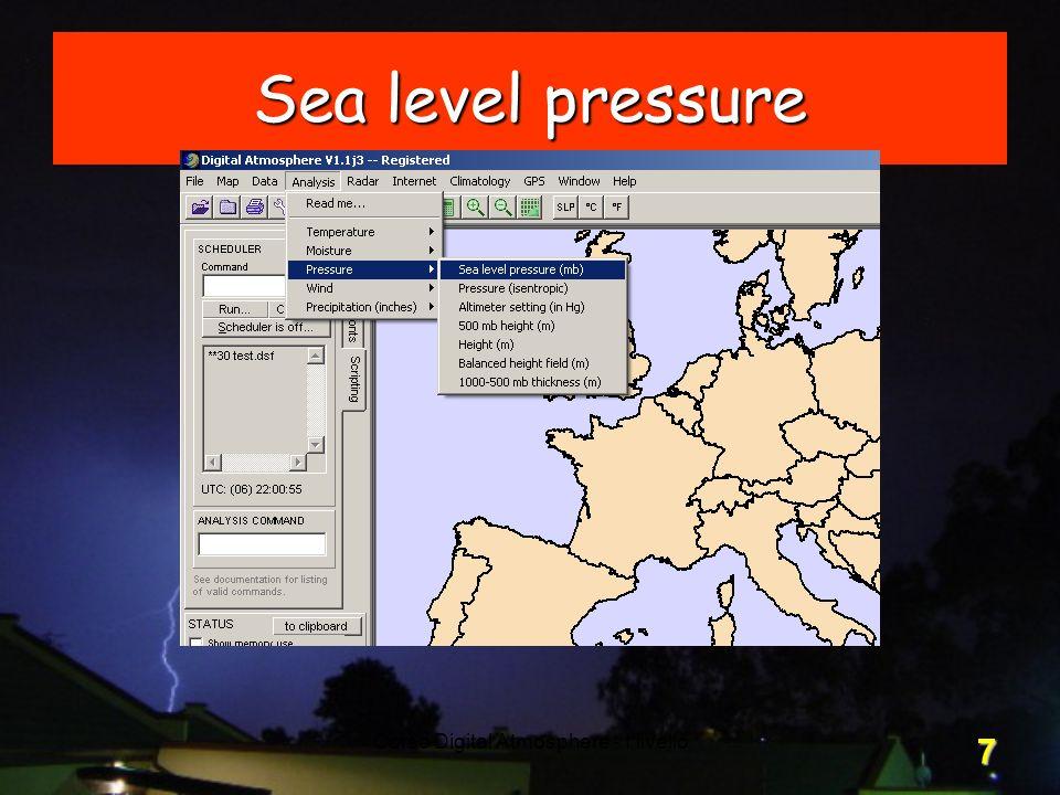 Corso Digital Atmosphere - I livello 7 Sea level pressure