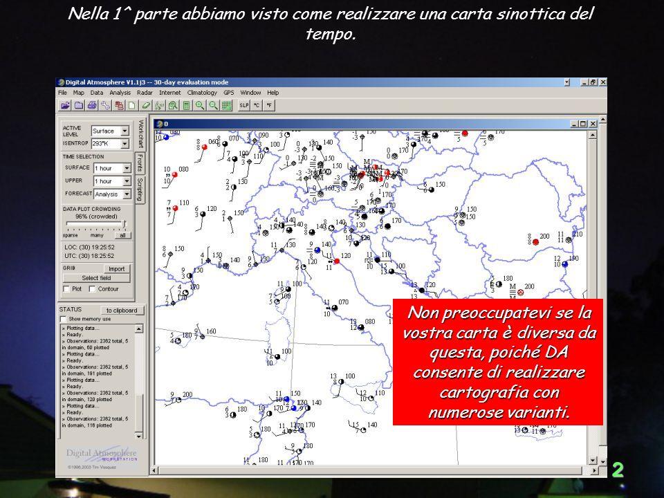 32 Scegli: Analysis > Wind > Wind speed (barbs) (kt). Sovrapposizione del vento