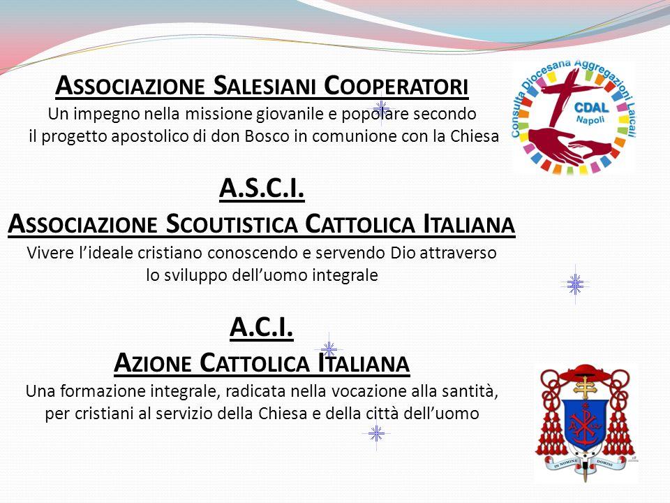 A SSOCIAZIONE S ALESIANI C OOPERATORI Un impegno nella missione giovanile e popolare secondo il progetto apostolico di don Bosco in comunione con la C