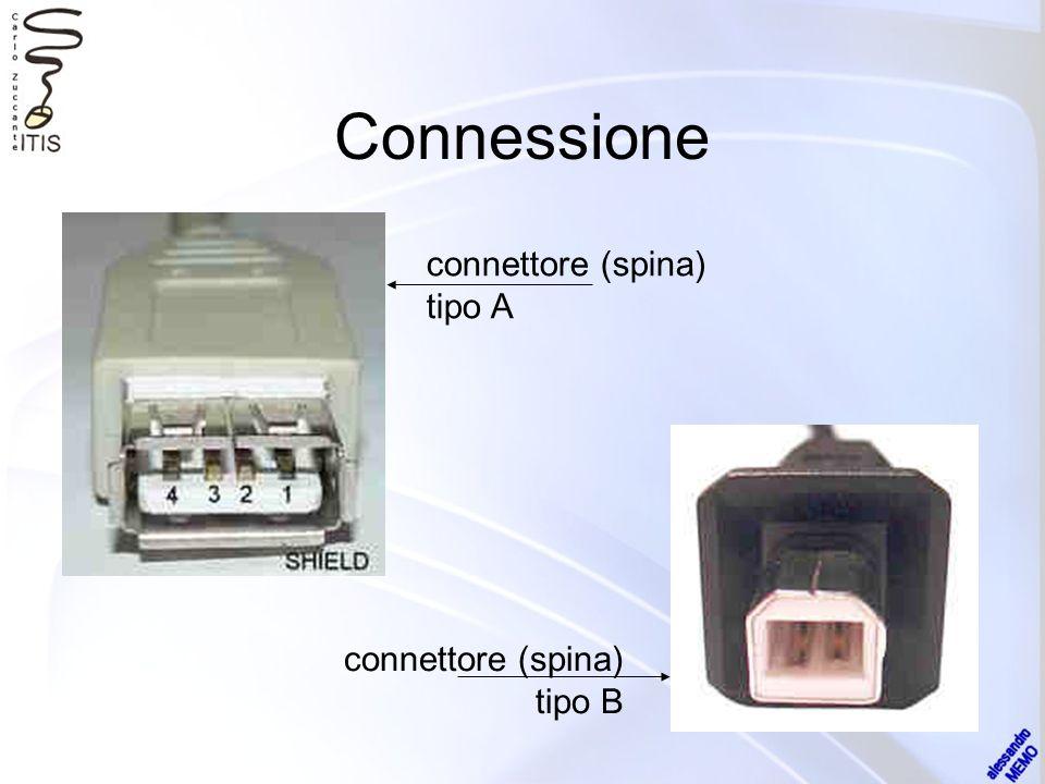 Connessione connettore (spina) tipo A connettore (spina) tipo B