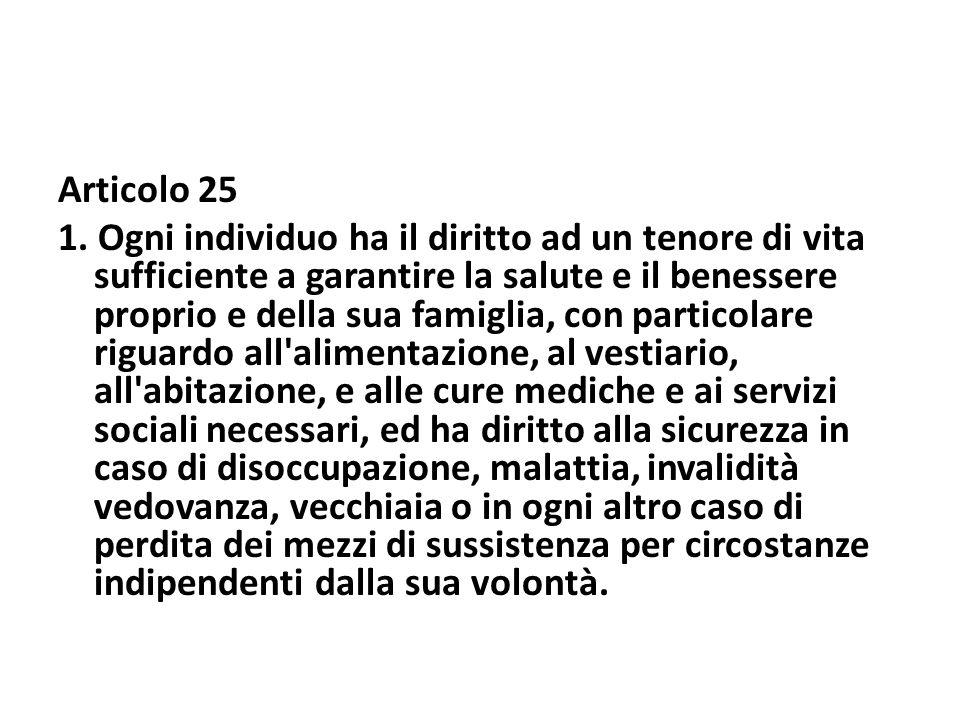 Articolo 25 1.