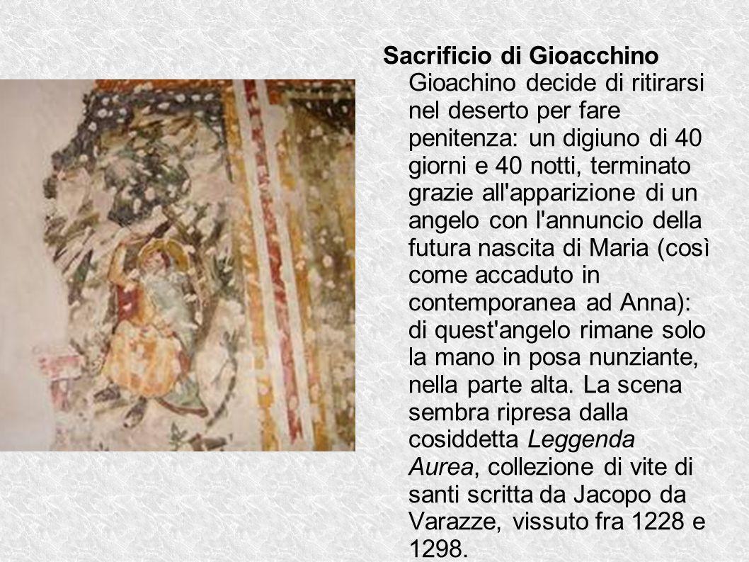 Sacrificio di Gioacchino Gioachino decide di ritirarsi nel deserto per fare penitenza: un digiuno di 40 giorni e 40 notti, terminato grazie all'appari